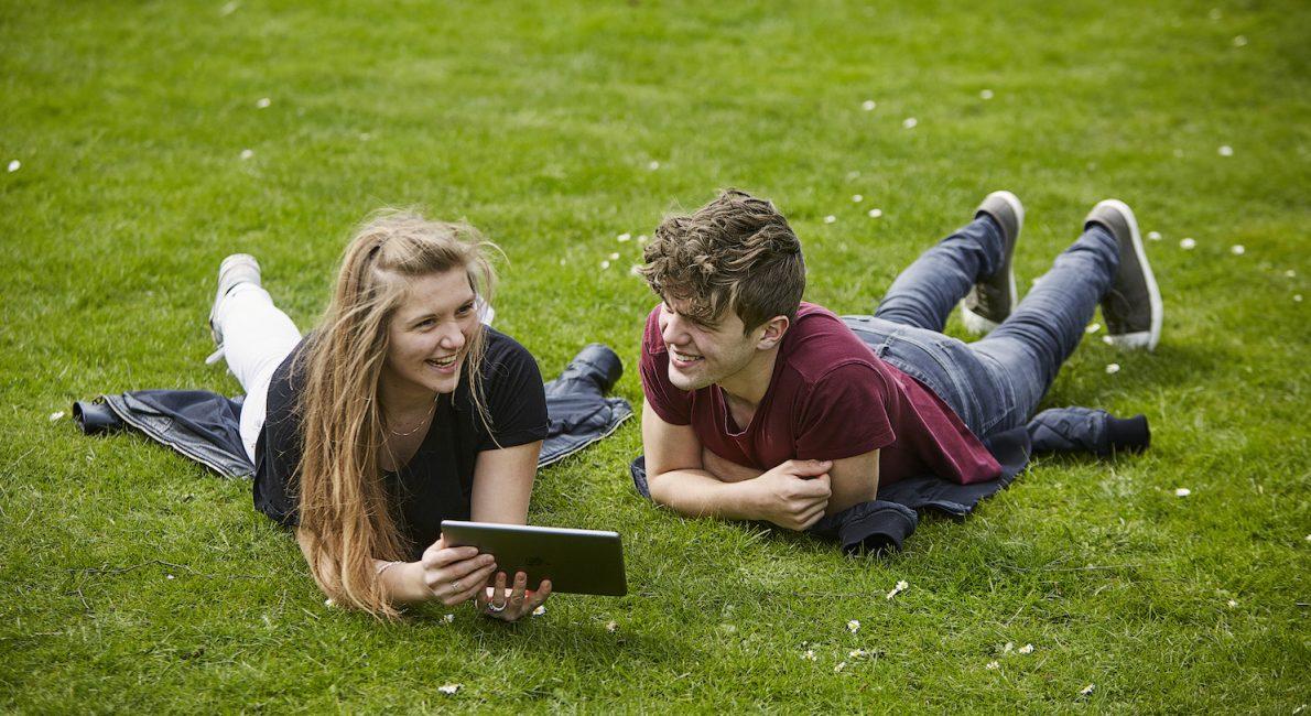 To unge lærer skoledansk online i græsset - danes worldwide