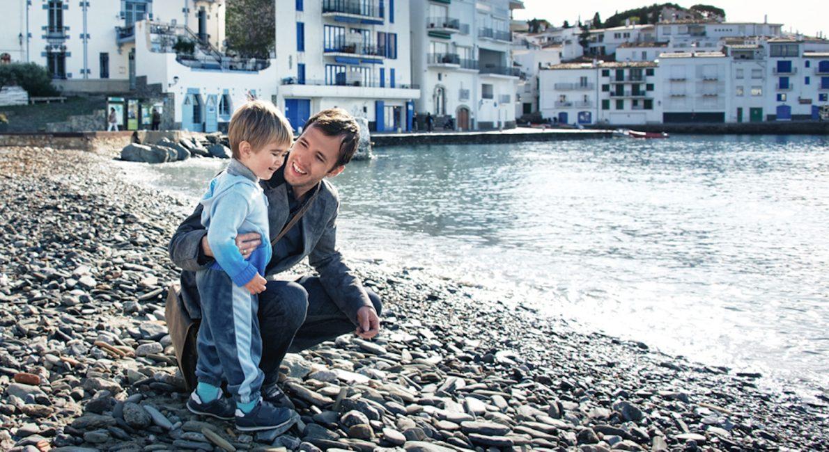 Far og søn i familiesammenføring